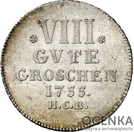 Серебряная монета 8 Грошей (8 Groschen) Германия - 2