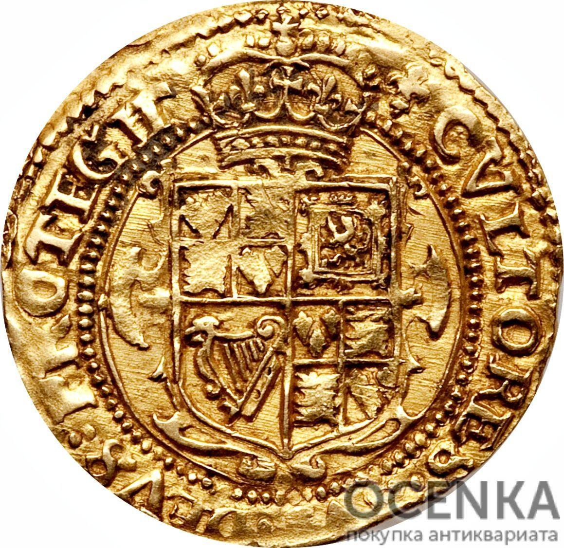 Золотая монета 1 Crown (крона) Великобритания - 9