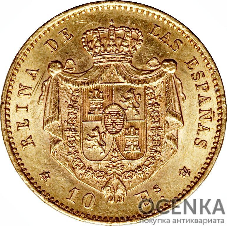 Золотая монета 10 Эскудо (10 Escudos) Испания
