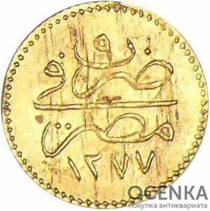 Золотая монета 5 пиастров, гирш (5 Piastres, Qirsh) Египет