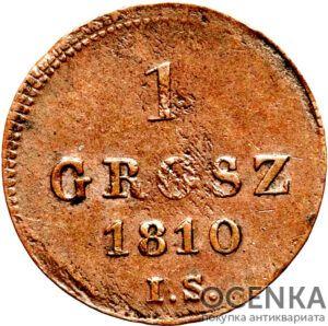 Медная монета Грош Средневековой Европы