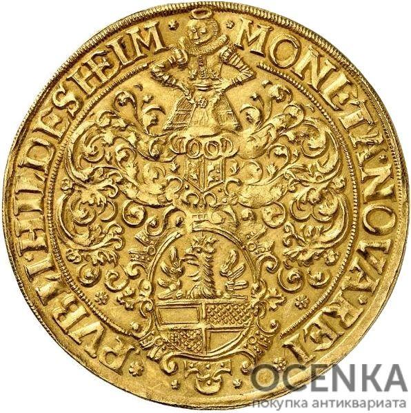 Золотая монета 4 Гульдена Германия - 2