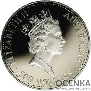 Платиновая монета 500 долларов Австралии