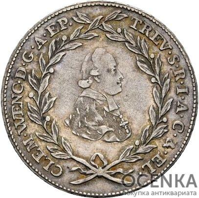 Серебряная монета 10 Крейцеров (10 Kreuzer) Германия - 1