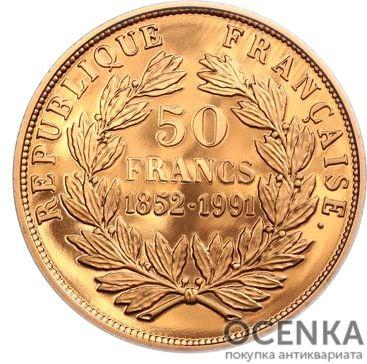 Золотая монета 50 Франков (50 Francs) Франция - 6