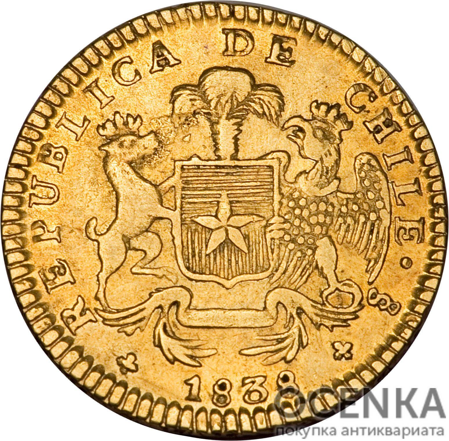 Золотая монета 2 Эскудо (2 Escudos) Чили - 5
