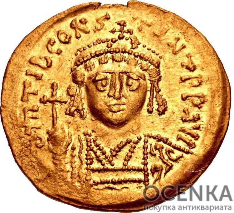 Золотой солид Византии, Флавий Тиберий II Константин Август, 578-582 год