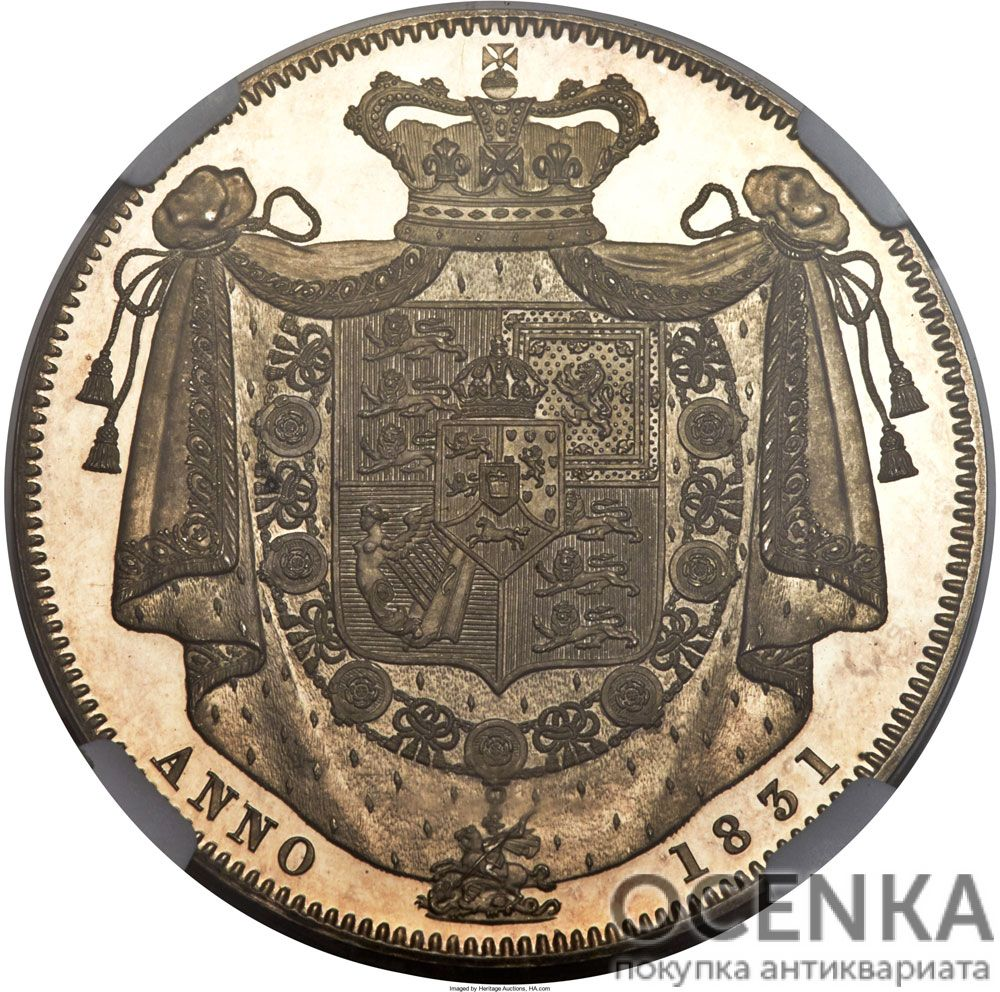 Серебряная монета 1 Крона (1 Crown) Великобритания