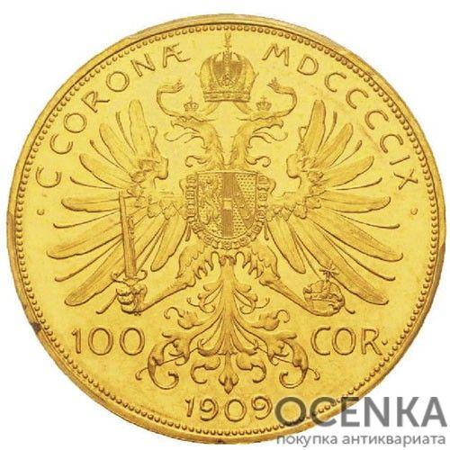 Золотая монета 100 крон Австро-Венгрии - 2
