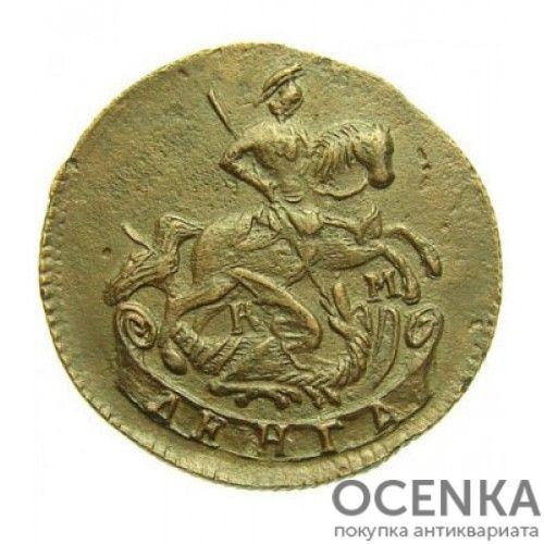 Медная монета Денга (Деньга) Екатерины 2 - 4