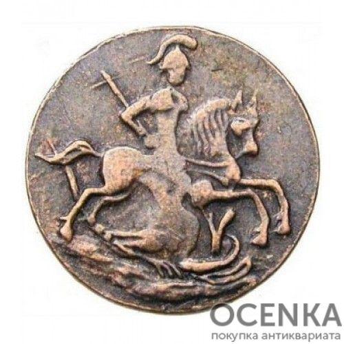 Медная монета Денга Петра 3 - 1