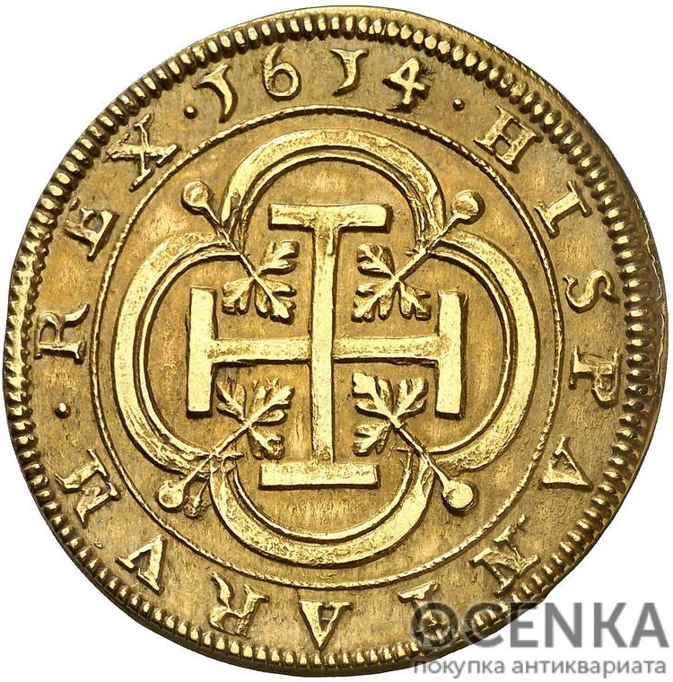 Золотая монета 8 Эскудо (8 Escudos) Испания