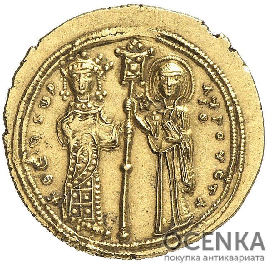 Золотой гистаменон Византии, Императрица Феодора, 1055-1056 год - 1