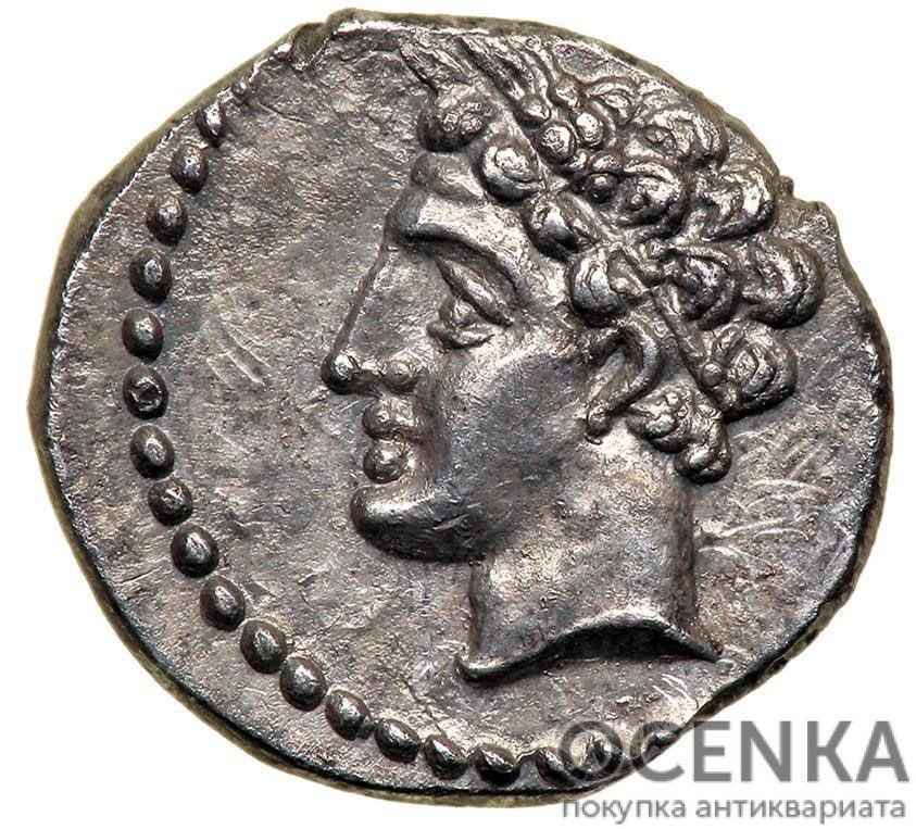 Серебряная монета Обол Древней Греции - 1