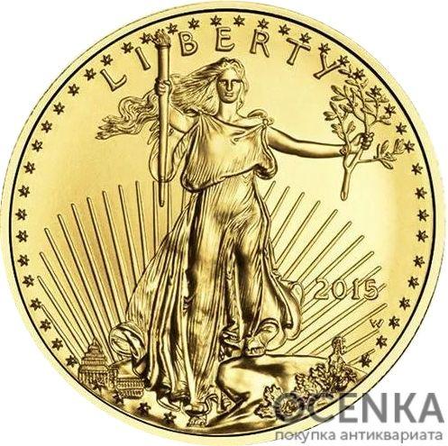Золотая монета 5 Dollars (5 долларов) США - 13