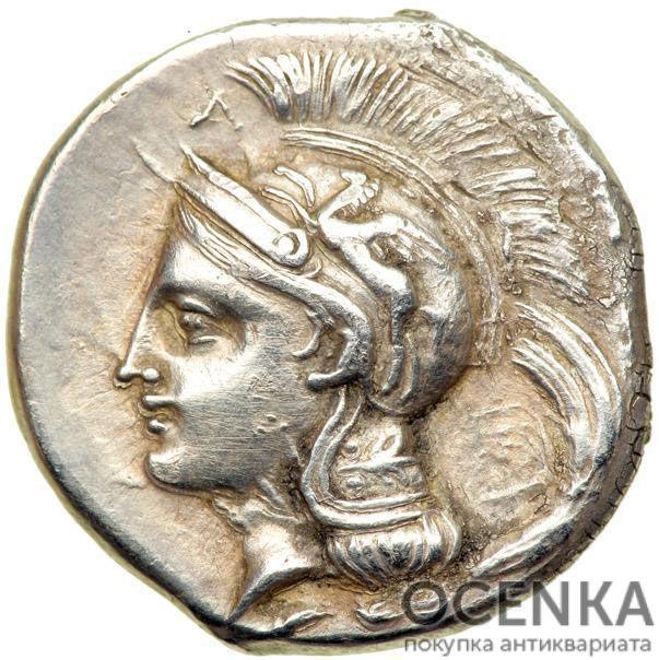 Серебряная монета Дидрахма Древней Греции - 1