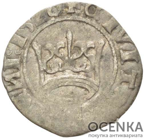 Серебряная монета Полугрош Средневековой Литвы - 3