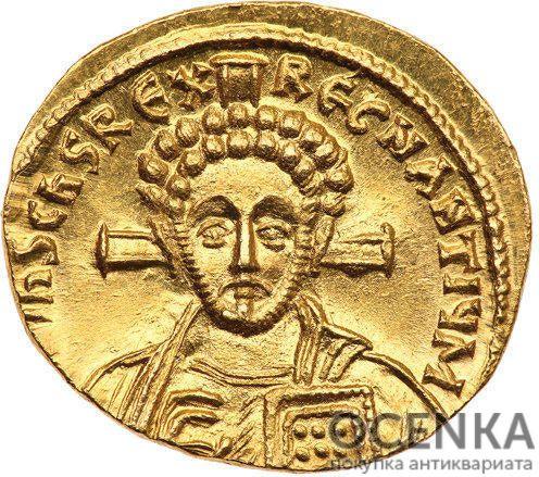 Золотой солид Византии, Юстиниан II, Второе правление, 705-711 год - 1
