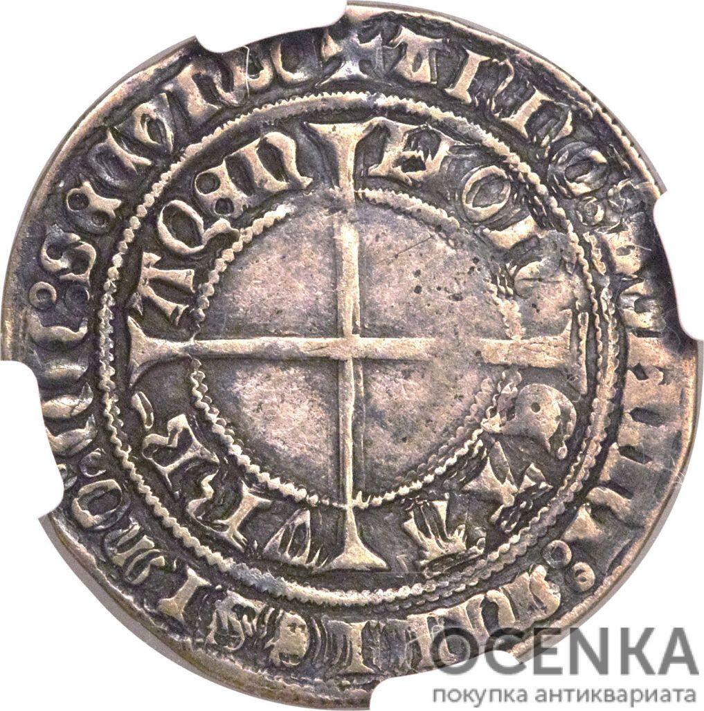 Серебряная монета Грош Средневековой Германии - 4