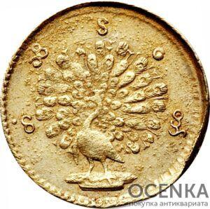Золотая монета 1 Му (1 Mu) Бирма