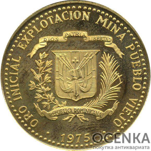 Золотая монета 100 Песо (100 Pesos) Доминикана - 1