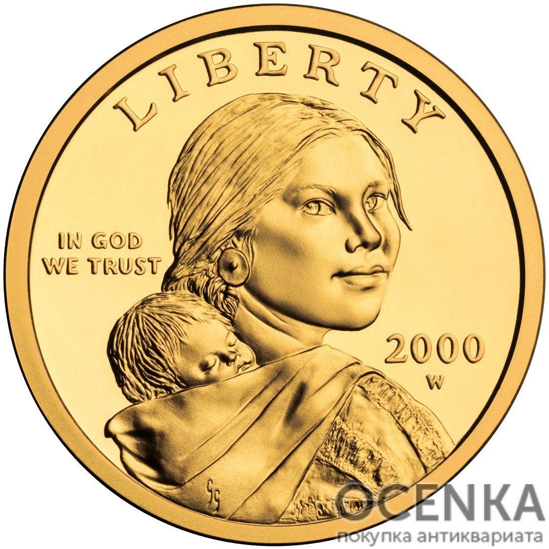 Золотая монета 1 Dollar (доллар) США - 15