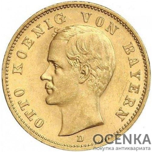 Золотая монета 20 Марок Германия - 9