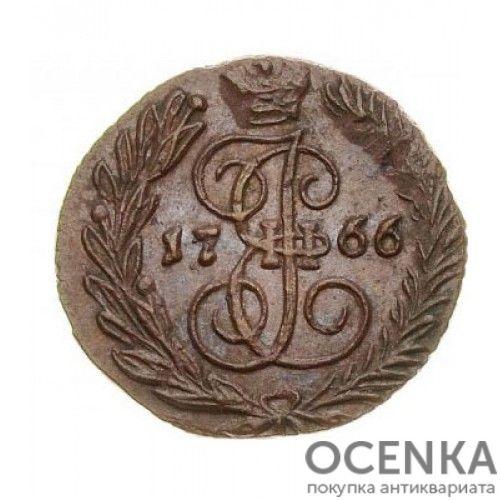 Медная монета Полушка Екатерины 2 - 3