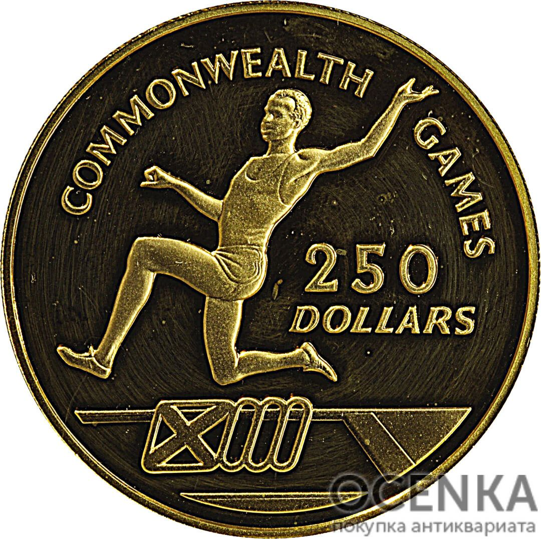 Золотая монета 250 Долларов Острова Кайман - 2