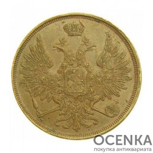 Медная монета 3 копейки Николая 1 - 9