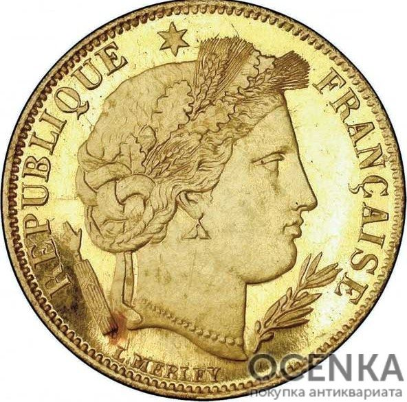Золотая монета 5 Франков (5 Francs) Франция - 5
