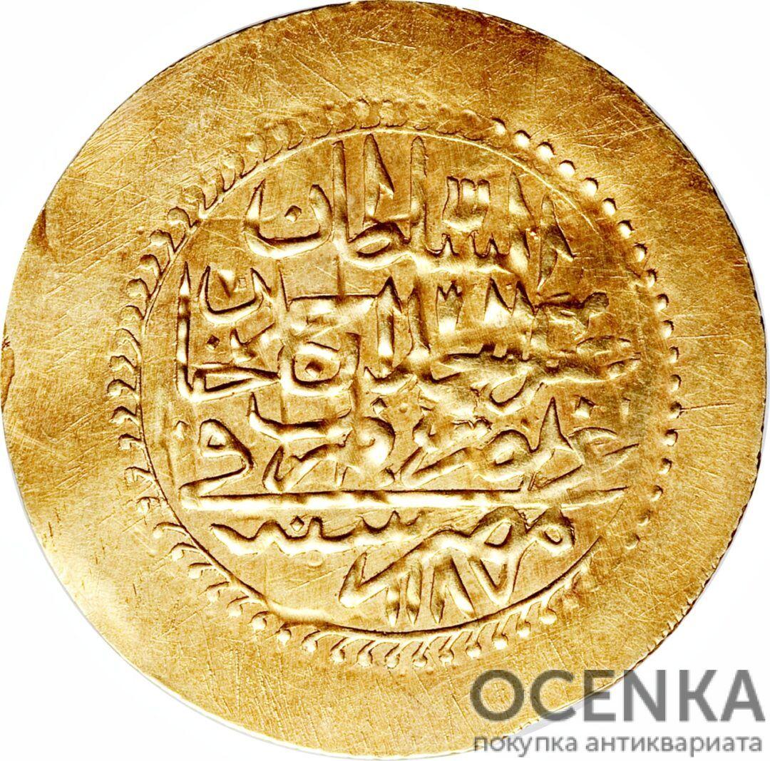 Золотая монета 1 Зери-Махбуб (1 Zeri Mahbub) Египет - 3