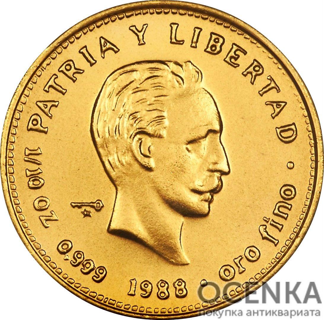 Золотая монета 10 Песо (10 Pesos) Куба - 3