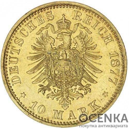 Золотая монета 5 Марок Германия - 4