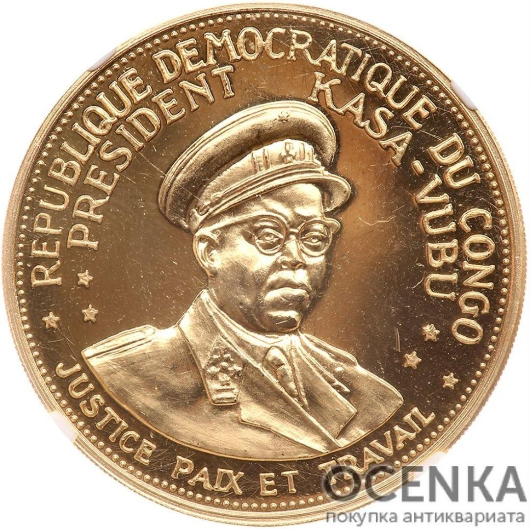 Золотая монета 100 Франков (100 Francs) Конго - 1