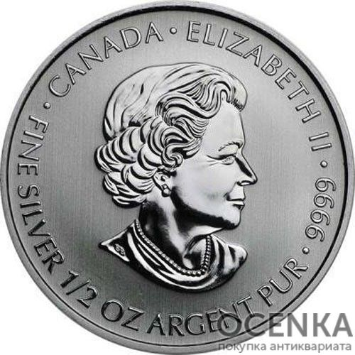 Серебряная монета 2 Доллара Канады - 1