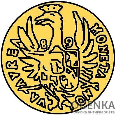 Золотая монета 10 Дукатов (10 Dukats) Курляндия