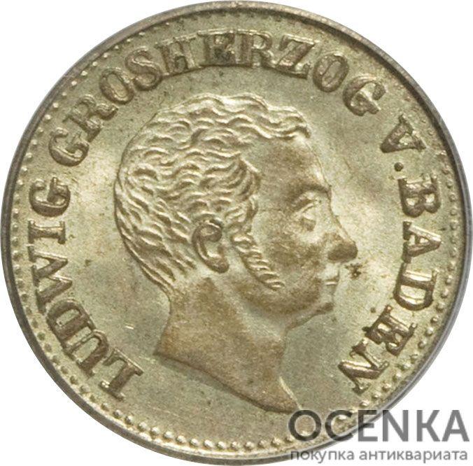 Серебряная монета 3 Крейцера (3 Kreuzer) Германия - 3
