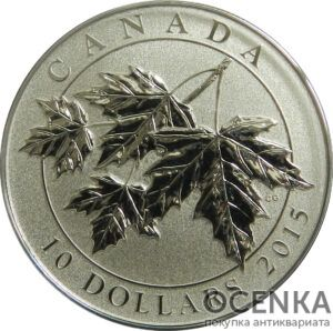 Серебряная монета 10 Долларов Канады