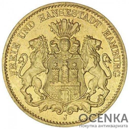 Золотая монета 5 Марок Германия - 5
