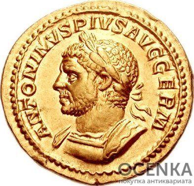 Золотой ауреус, Каракалла (Цезарь Марк Аврелий Север Антонин Пий Август), 198-217 год