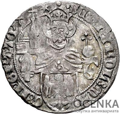 Серебряная монета Грош Средневековой Германии - 3