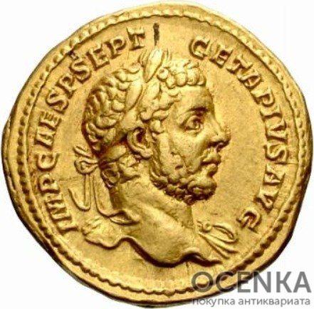 Золотой ауреус, Цезарь Публий Септимий Гета Август, 209-212 год