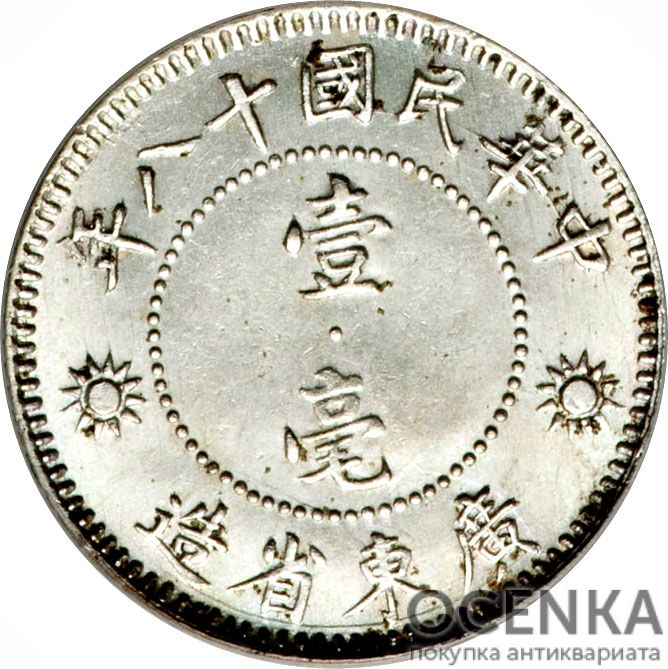 Серебряная монета 1 Цзяо (1 Jiao) Китай - 4