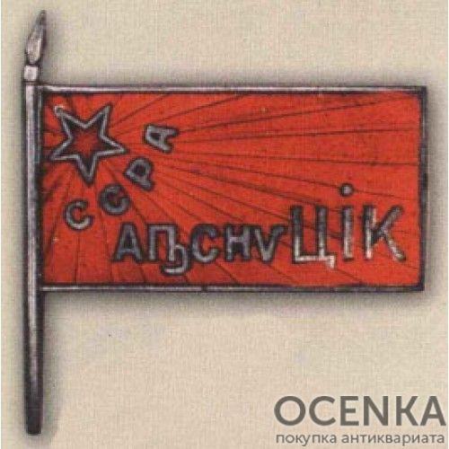 Нагрудный знак «Член ЦИК ССР». 20-е — 30-е гг.