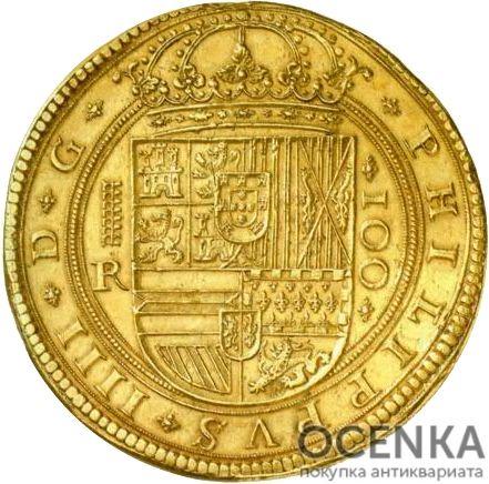Золотая монета 100 Эскудо (100 Escudos) Испания - 3