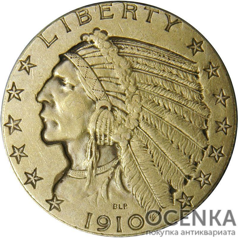 Золотая монета 5 Dollars (5 долларов) США - 9