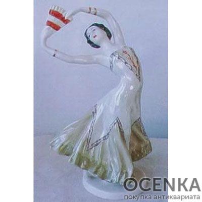 Статуэтка ЛФЗИ Балерина с веером - 1