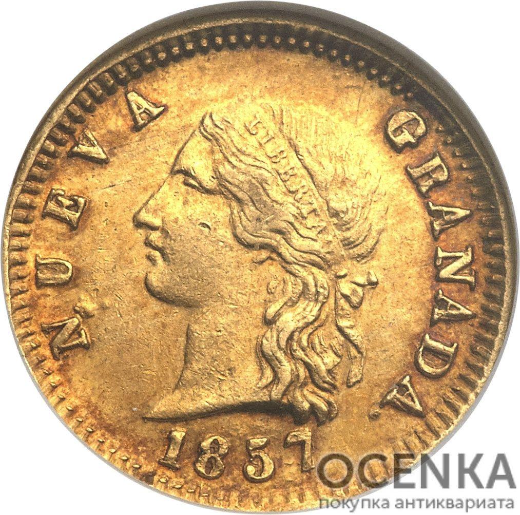Золотая монета 2 Песо (2 Pesos) Колумбия - 3