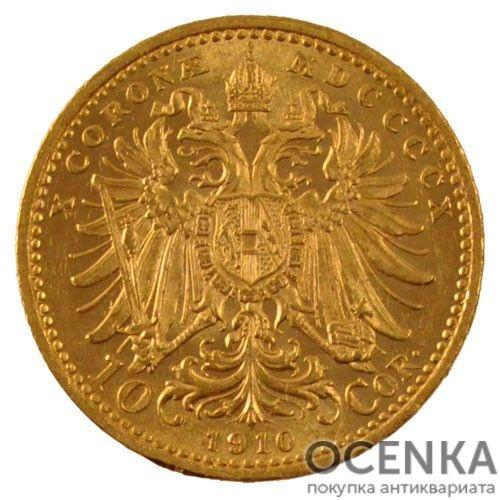 Золотая монета 10 крон Австро-Венгрии - 6